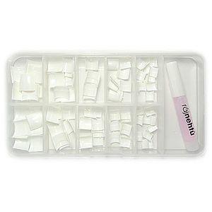 Raj nechtov - nechtové tipy krátke biele - vel.0-9 - súprava - 100ks vyobraziť