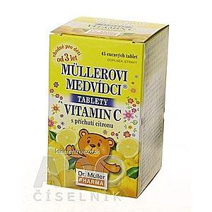 MÜLLEROVE medvedíky - vitamín C tbl 1x45 ks vyobraziť