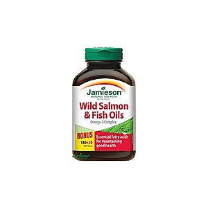 Jamieson Salmon Omega-3 komplex z lososa a rybích olejov 180 + 20 cps vyobraziť