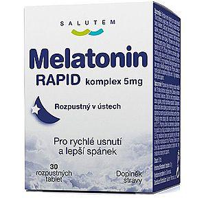 SALUTEM Pharma Melatonín Rapid komplex 5 mg 30 tabliet vyobraziť