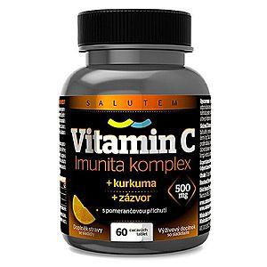 SALUTEM Pharma Vitamín C 500 mg Imunita kurkuma + zázvor tbl.60 s pomarančovou príchuťou vyobraziť
