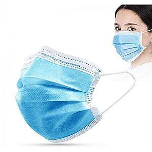 Trojvrstvové ochranné rúška na jedno použitie, 50 ks vyobraziť