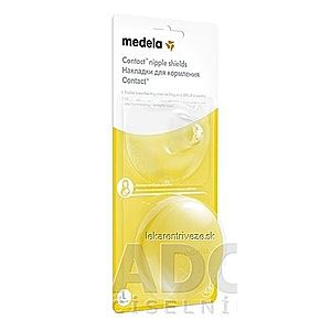 MEDELA Kontaktné dojčiace klobúčiky v krabičke (Ochrana prsných bradaviek MEDELA) veľkosť L (priemer 24 mm), 1x2 ks vyobraziť