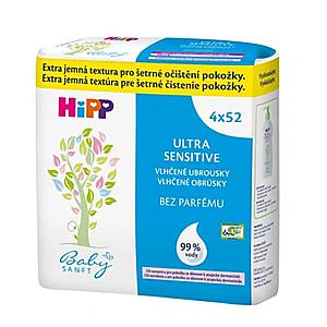 HiPP BabySanft čistiace vlhčené obrúsky 4 x 52 kusov vyobraziť