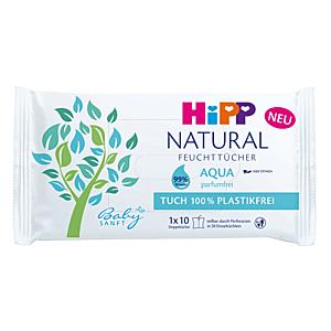 HIPP Babysanft natural aqua vlhčené obrúsky 10 kusov vyobraziť