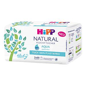 HIPP Babysanft natural aqua vlhčené obrúsky 2 x 60 kusov vyobraziť