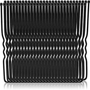 BrushArt Hair Clip sponky do vlasov veľké balenie Bun Black Pins 50 ks vyobraziť