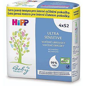 Hipp Babysanft Ultra Sensitive vlhčené čistiace obrúsky pre deti bez parfumácie 4x52 ks vyobraziť