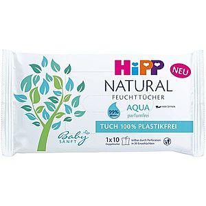 Hipp Babysanft Aqua Natural vlhčené čistiace obrúsky pre deti od narodenia 10 ks vyobraziť