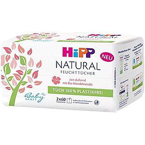 Hipp Babysanft Natural vlhčené čistiace obrúsky pre deti od narodenia 2x60 ks vyobraziť